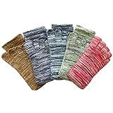 日本製靴下 5本指 メンズ カラーソックス 5足組