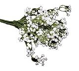 清楚な 造花の かすみ草 インテリアフラワー 他のお花との組合せで華やかに (カスミ草6本)