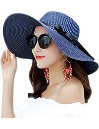 レディース 日よけ帽子 サイズ調節可 ハット つば広 uvカット麦わら帽子 夏 紫外線対策 軽量 女性用
