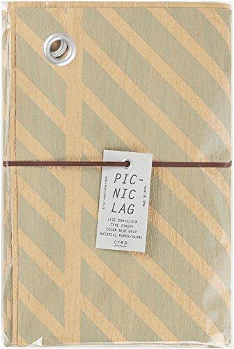 山陽製紙 レジャーシート PICNIC RUG STRIPE ブルーグレーL 110×200cm