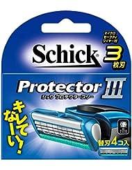 シック プロテクタースリー 替刃 (4コ入) 男性用カミソリ 3個セット