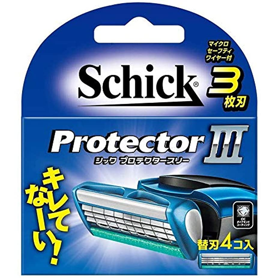 翻訳するセットするストッキングシック プロテクタースリー 替刃 (4コ入) 男性用カミソリ 4個セット