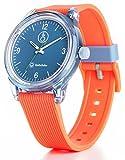 [キューアンドキュー スマイルソーラー]Q&Q SmileSolar 腕時計 ソーラー アナログ ウレタンベルト ブルー オレンジ RP10-009
