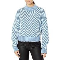 C/MEO COLLECTIVE Women's Stuck on You Herringbone Knit Sweater