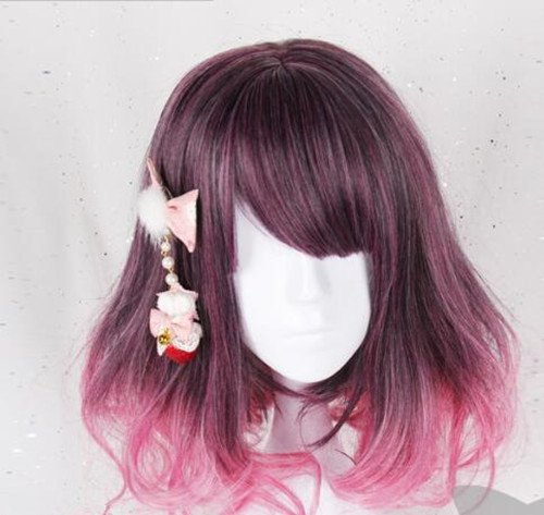 耐熱コスプレウイッグ かつら少女風mix 40cm ロリータ風日常原宿風GAL系小顔効果wig cosplay