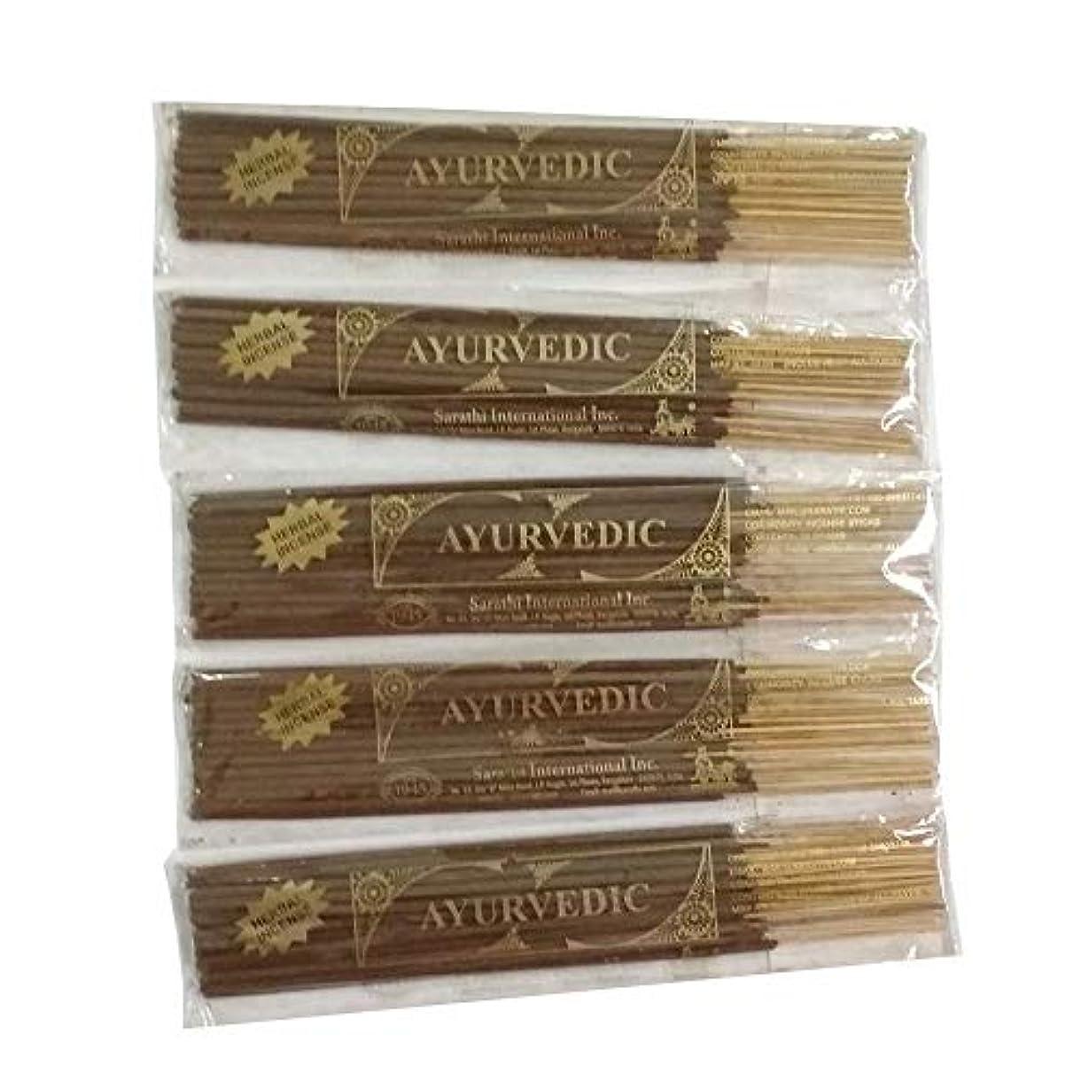不良マリナー国際Buddha Crafts Ayurvedic Incense Sticks, 125 gms – 5のセット。。。
