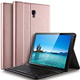 Samsung Galaxy Tab A 10.5 T590/T595 Keyboard Case [QWERTY] , IVSO Case with Keyboard, Ultra-Slim Stand Case Cover with Magnetically DETACHABLE Wireless Keyboard for Samsung Galaxy Tab A 10.5 inch T590/T595 Tablet, Rose Gold