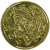 プラスチックコイン(Asstd色100 / Pkg) One Size ゴールド 50856-GD