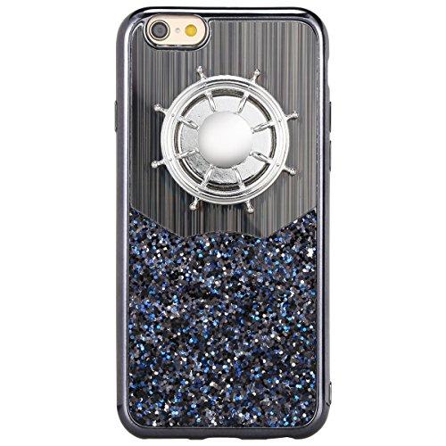 KIVORS iphone 6・6Sケース ハンドスピナー付き おしゃれな スパンコール アイフォンケース アイフォン6・6S用 四色