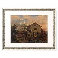 カール・グスタフ・カールス Carus, Carl Gustav 「Das Haus Carus in Pillnitz. Um 1835.」 額装アート作品