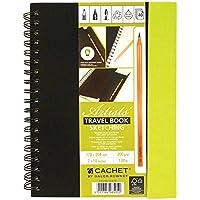 """Cachet Travel Sketch Book W/Pencil 7""""X10""""-120lb 40 Sheets (並行輸入品)"""