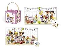 Jura Toys J02768 Janod Lovely Juliette Celebrates Her Birthday Puzzle