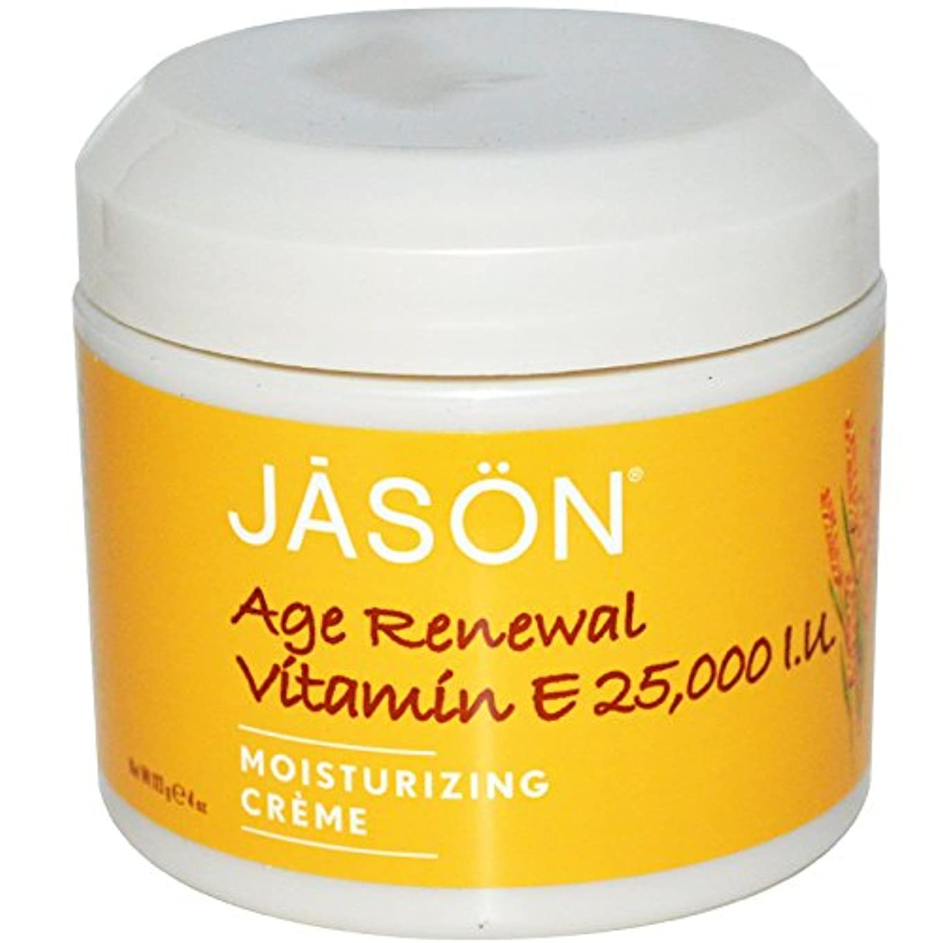 ジェイソンナチュラル(Jason Natural) エイジリニューアル ビタミンE クリーム  25,000 IU 113g [海外直送][並行輸入品]