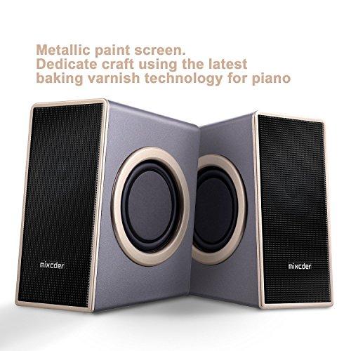 『PCスピーカー Mixcder MSH169 USB ステレオ マルチメディア スピーカー ステレオミニプラグ音源 小型 重低音 』の5枚目の画像