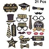 BESTOYARD 21点 フォトプロップス 2019年卒業式 写真小道具 結婚式 披露宴 二次会 撮影 メガネ 帽子 ネクタイ おもちゃ