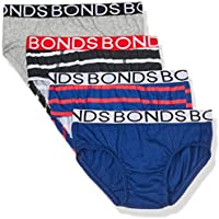 Bonds Boys Underwear Brief (4 Pack), Blue