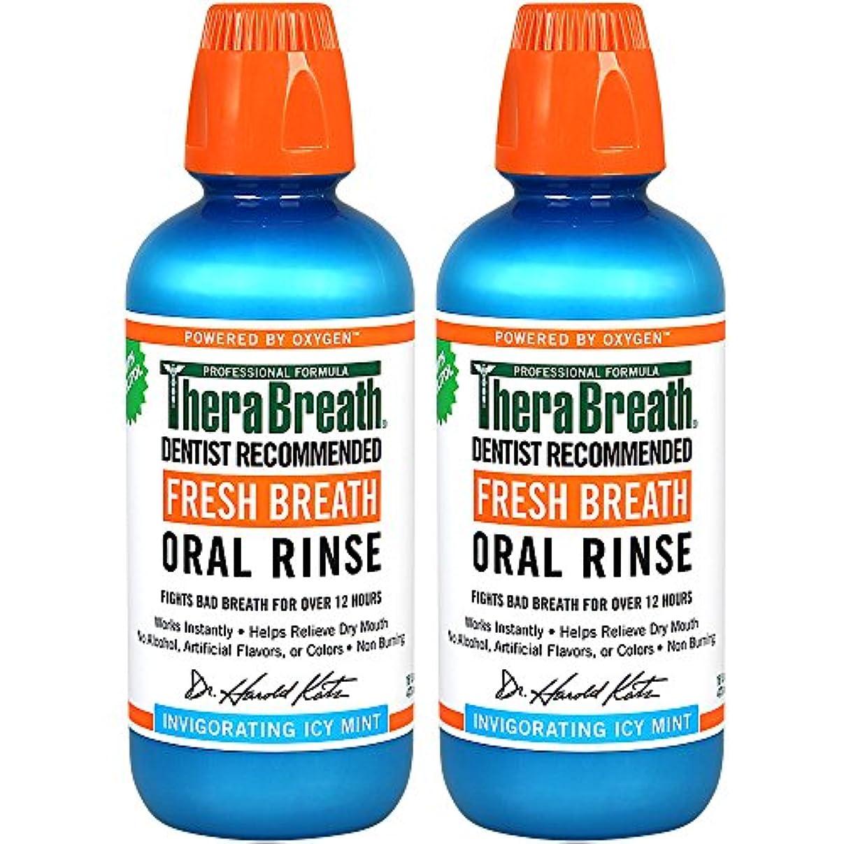 食欲エンドテーブル暴力的なThera Breath ORAL RINSEミントフレーバー 473ml 2本[並行輸入品]