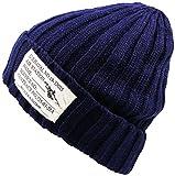 HIROMARUjp ニット帽 タグ付き ニットキャップ 帽子 男女兼用 A ネイビー