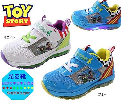 【光る靴】【トイストーリー】 男の子 マジック サイドがキラキラ光る靴! 6995 (15cm, ブルー)