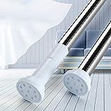 つっぱり棒 強力突っ張り棒 室内用物干し竿 幅50-240CM 浴室用ステンレス超強力伸縮棒 取付寸法 95~150cm耐荷重60~15kg