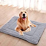 ESUPPORT Pet Mat Bed for Dog Cat Sleeping Soft Warm Fleece Dog Cushion Pets Kennel Pads Outdoor Indoor Use, L/Corduroy Gray