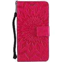 SONY Xperia XZ2ケース、SONY Xperia XZ2のためのカードスロット& 立ちなさいを持つksled PU革財布ケース。(赤)
