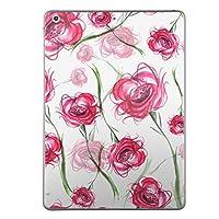 iPad Air スキンシール apple アップル アイパッド A1474 A1475 A1476 タブレット tablet シール ステッカー ケース 保護シール 背面 人気 単品 おしゃれ 花 フラワー ピンク 013718