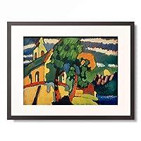 ワシリー・カンディンスキー Wassily Kandinsky (Vassily Kandinsky) 「Riegsee – Dorfkirche, 1908.」 額装アート作品