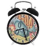仏様 蓮華 .ベッドルーム、オフィス、リビングルーム、ユニークな装飾的なサイレント目覚まし時計-直径約4インチ