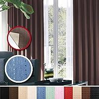 窓美人 センチュリオン 完全遮光 特殊コーティングカーテン 幅100×丈178cm 2枚入り ブルー ストライプ柄 断熱・遮熱・防音 形状記憶付