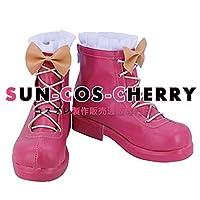 【サイズ選択可】コスプレ靴 ブーツ K-2302 バトルガール ハイスクール Chuuuuu(ハート)Lip 粒咲あんこ 女性23.5CM
