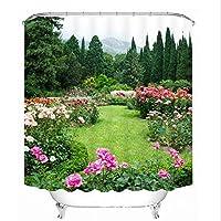 BMY 3Dシャワーカーテンポリエステル5つのサイズの防水浴室のカーテン(サイズ:180 * 200 cm)
