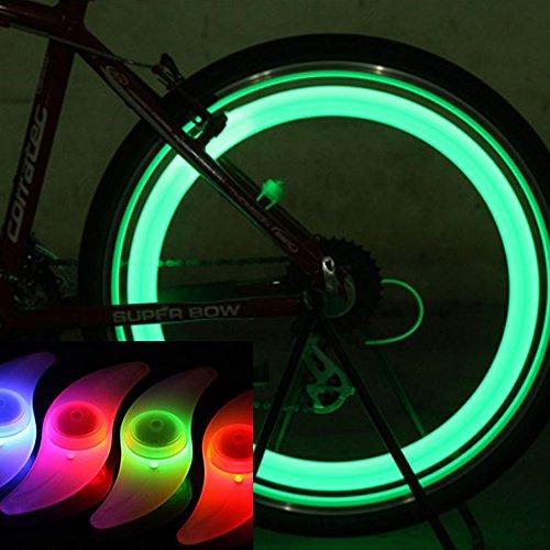 【暗闇の危険を回避】 3色セット 自転車 用 ホイール LE...