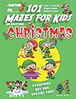 101 Mazes For Kids: SUPER KIDZ Book. Children - Ages 4-8 (US Edition). Cartoon Christmas Elves with custom art interior. 101 Puzzles with solutions - Easy to Very Hard learning levels -Unique challenges and ultimate mazes book for fun activity time! (Superkidz - Christmas 101 Mazes for Kids)