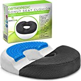 Donut Pillow Hemorrhoid Seat Cushion - Cooling Gel Memory Foam Relief Tailbone and Back Pain, Coccyx, Postpartum, Sciatica, Prostate - Medical Butt Ring Pad for Office Chair, Bed, Wheelchair or Car