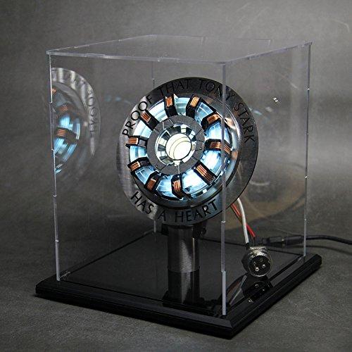 マーベル アイアンマン したアーク リアクター Marvel Ironman/War Machine Arc Reactor MK2 実物大 USB給電 LED発光のスペルモデルセット DIY 組立式 模型 もけい 防塵展示箱付き