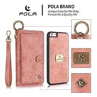 iphone6 Plus/6S Plus/7/8/7 Plus/8 Plus/X 手帳型ケース財布型ケースジッパーバッグ高級PUレザーマグネット人気おしゃれ スタンド機能カード収納カバー 分離式多機能 ポーチマグネット式吸着