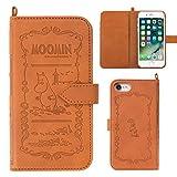 iPhone7 ケース 手帳型 カバー ムーミン カード収納 ストラップホール / ムーミン
