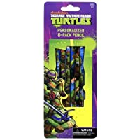 Teenage Mutant Ninja Turtles(ティーンエイジ・ミュータント・ニンジャ・タートルズ)6pk Wood Pencil(6本 鉛筆)【並行輸入品】