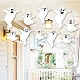 Hanging Spooky Ghost - Outdoor Halloween Hanging Porch & Tree Yard Decorations - 10 Pieces [並行輸入品]