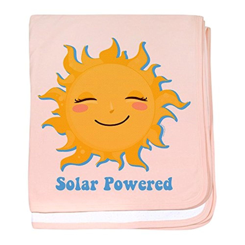 CafePress – Solar Powered – スーパーソフトベビー毛布、新生児おくるみ ピンク 06223484346832E