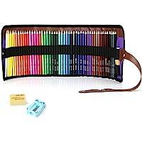 Souyos 色鉛筆 50色セット 画材セット 鉛筆削り・消しゴム付き