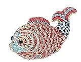 (アーニェメイ)Bonjanvye 魚型 キラキラ クラッチバッグ 結婚式パーティーバッグ-赤