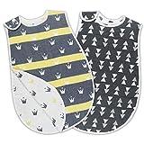 VACNITE 2枚セット スリーパー ベビー 6層ガーゼ 赤ちゃん 寝袋 パジャマ 67*45cm コットン100% 女の子 男の子 寝冷え防止 柔らかい お昼寝 出産祝い ギフト