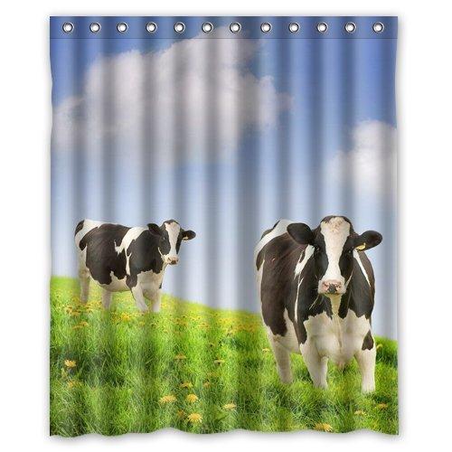 人気Milk Cowシャワーカーテン60x 72インチBest Selling