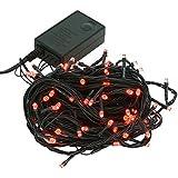 【レッド】イルミネーション LED ライト クリスマスライト 屋外 屋内 100球 点灯パターン記憶メモリー付 連結可