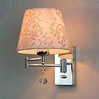 ウォールランプ ベッドサイドクリスタルウォールランプ寝室収納式LED読書灯スイッチロッカー調光ライト (色 : D)