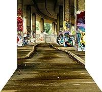 ouyida Urbanグラフィティ10x 15ft ( 300x 450cm ) Pictorial布カスタマイズ写真バックドロップ背景Studioプロップgq79
