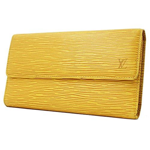 LOUIS VUITTON(ルイヴィトン)エピ ポルトトレゾール・インターナショナルM63389 タッシリイエロー三つ折り長財布 (中古)