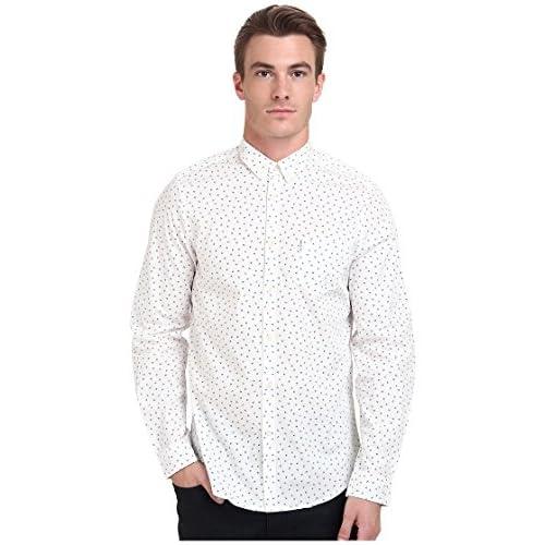 [ベンシャーマン] Ben Sherman メンズ Long Sleeve Scatter Print Woven MA11388A トップス Off White SM [並行輸入品]